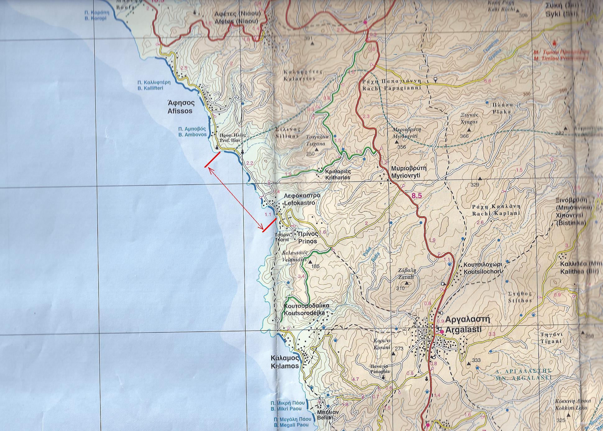 карта лефокастро